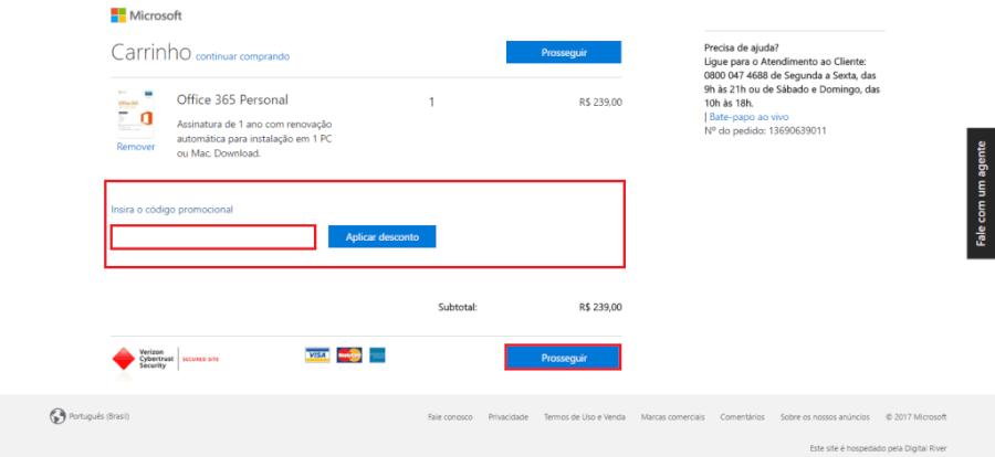 Cupom de desconto Microsoft Store