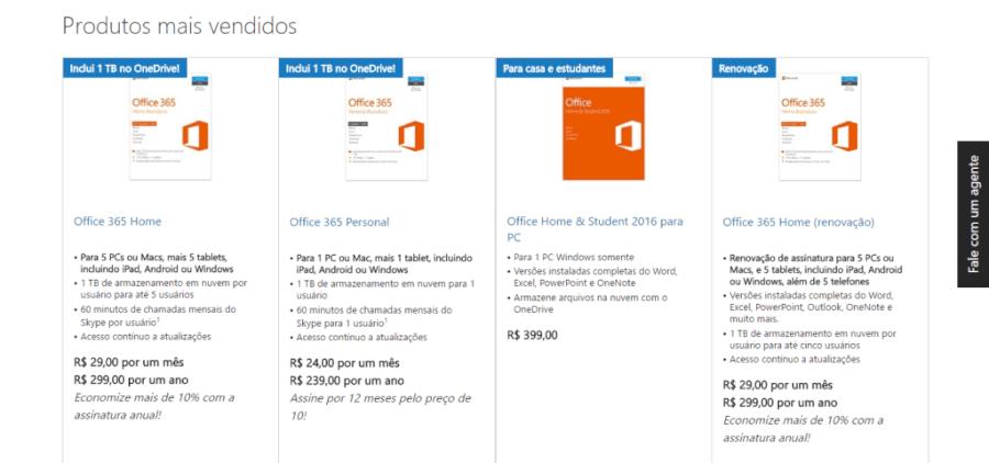 Microsoft Store Produtos