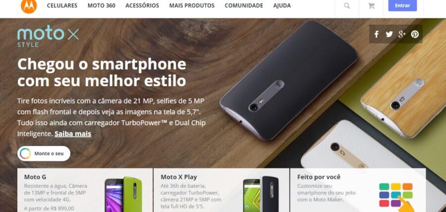 Motorola Página Inicial