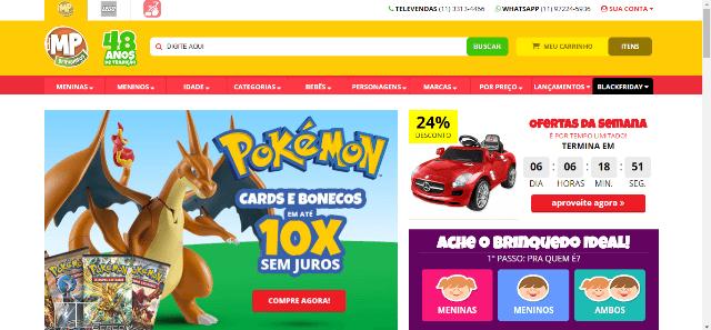 Pagina Inicial MP Brinquedos