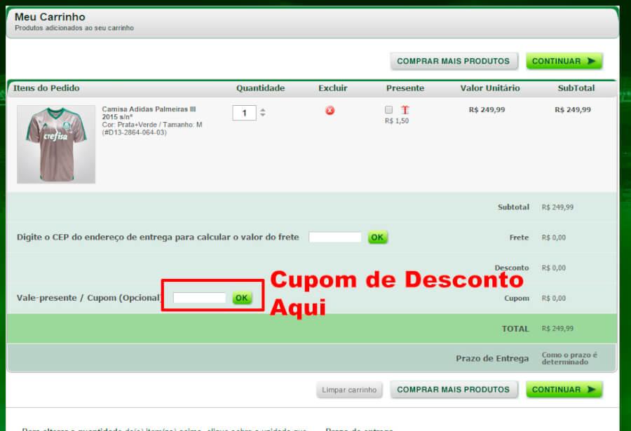 Mundo Palmeiras Cupom