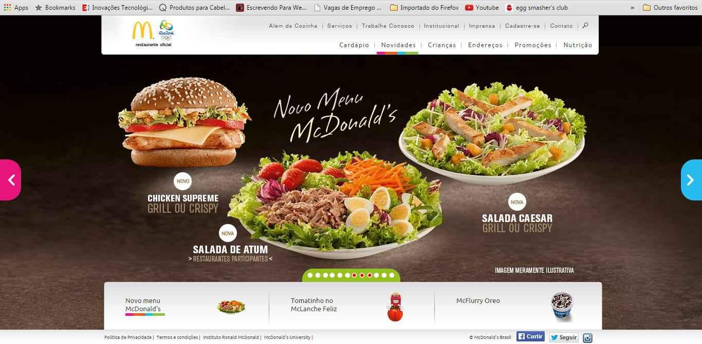 imagem promocional Menu McDonalds