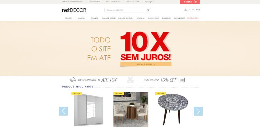 NetDECOR página inicial