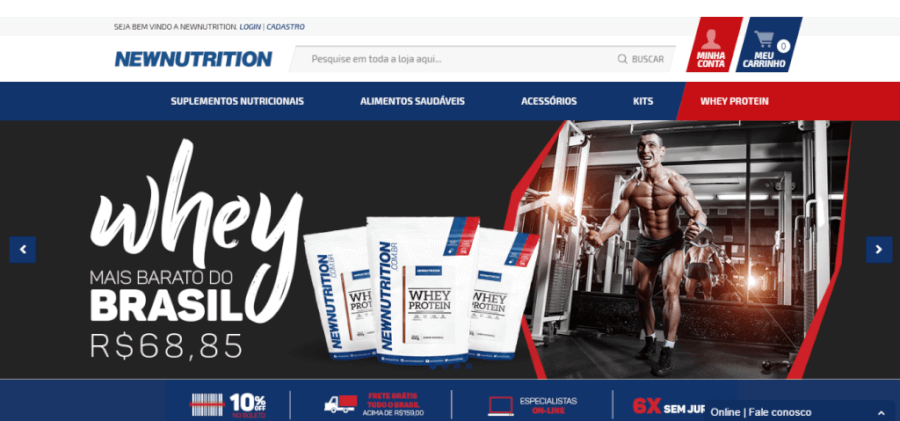 Pagina Inicial New Nutrition