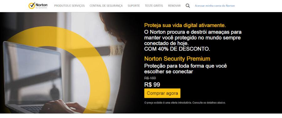 Norton Antivirus Página Principal