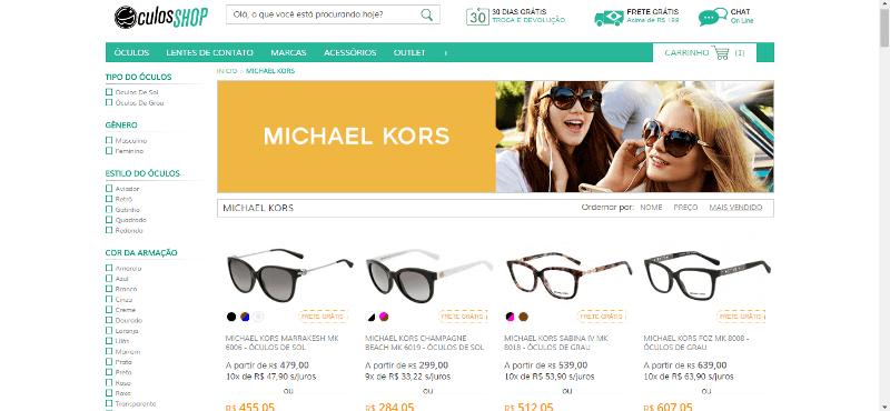 Oculos Shop Produtos