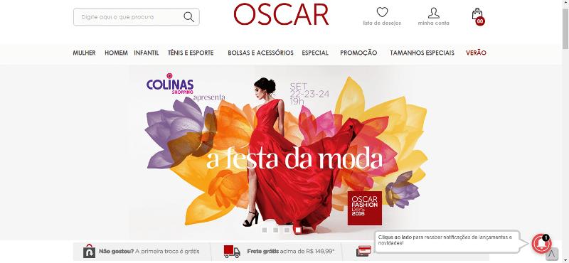 Pagina Inicial Oscar Calçados