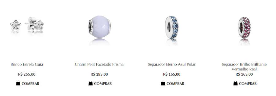 Pandora produtos