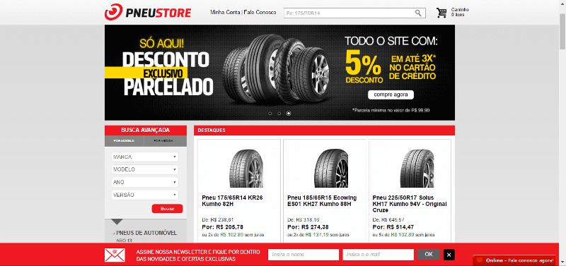 Pagina Inicial Pneu Store