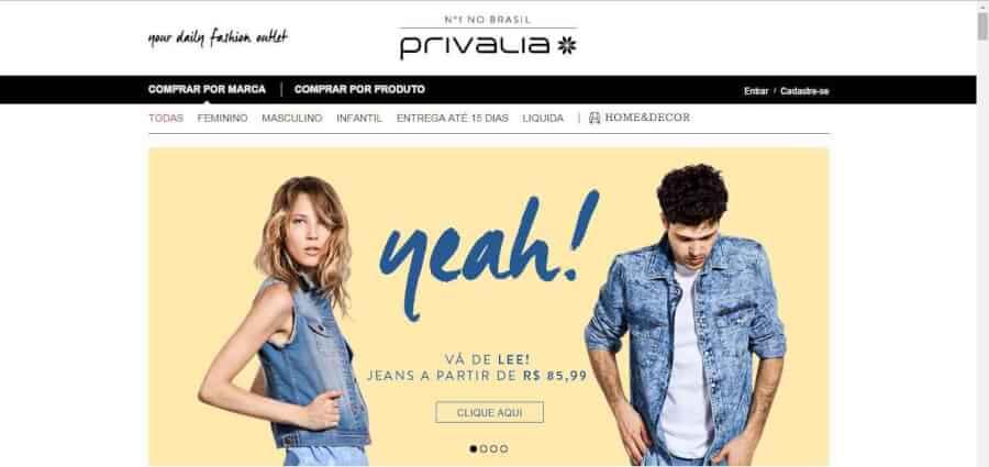 imagem promocional Privalia