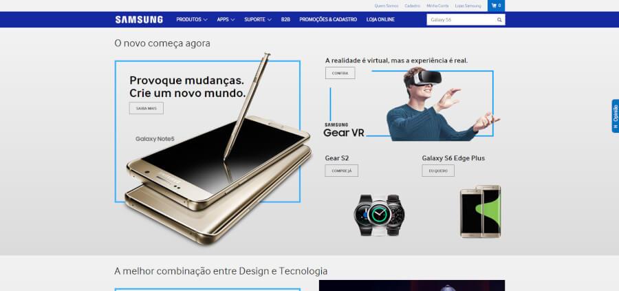 Samsung Página Principal