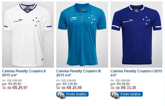 Shop Cruzeiro Página Principal