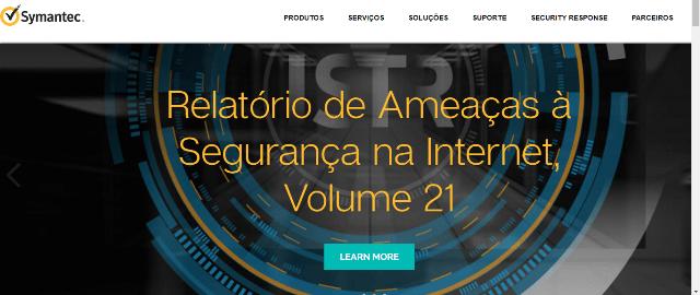 Pagina Inicial Symantec