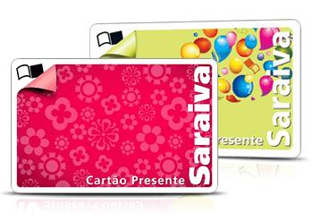 cartão presente Saraiva