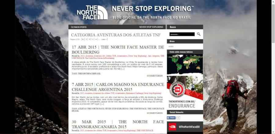 imagemdo promocional Blog The North Face