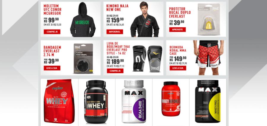 UFC Store Produtos