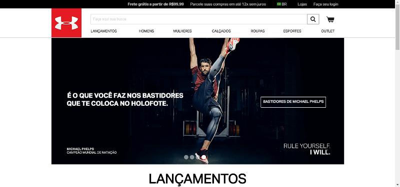 Pagina Inicial Under Armour