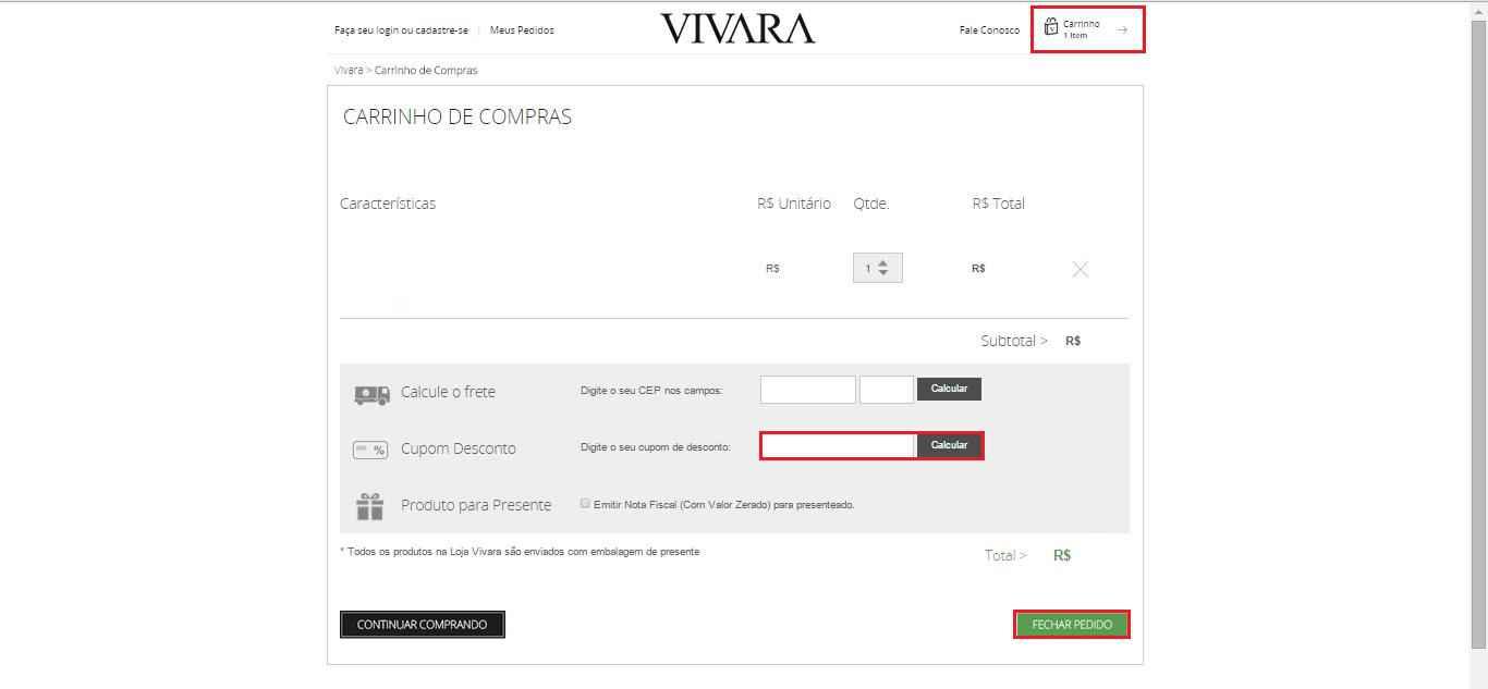 Como utilizar o cupom de desconto Vivara