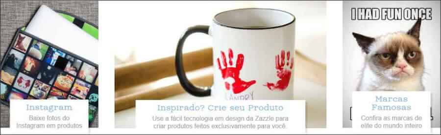 imagem promocional Zazzle