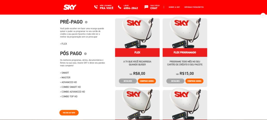 Sky TV Produtos