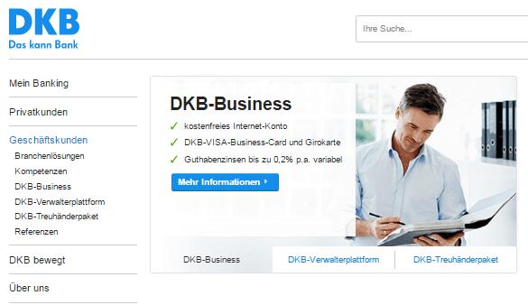 DKB attraktive Angebote für Firmen