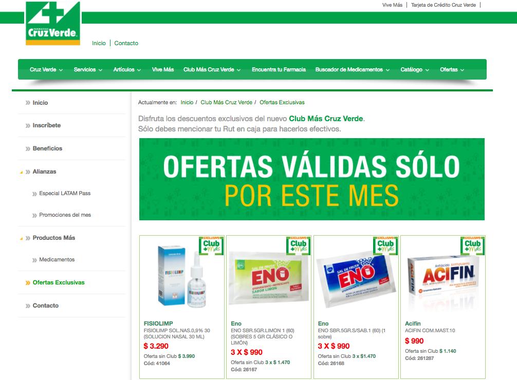 ofertas cruz verde