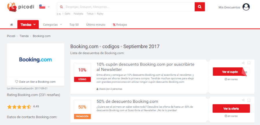 Booking.com discount coupon