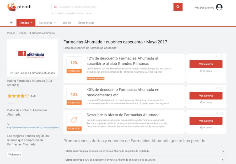 promociones farmacia ahumada Picodi