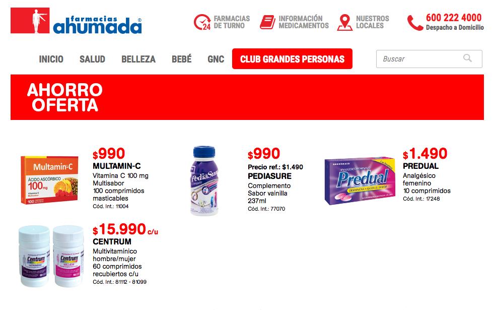 ofertas farmacia ahumada