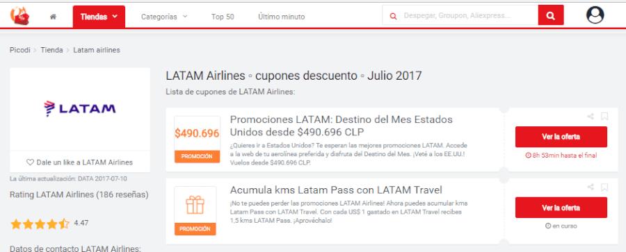 promociones LATAM
