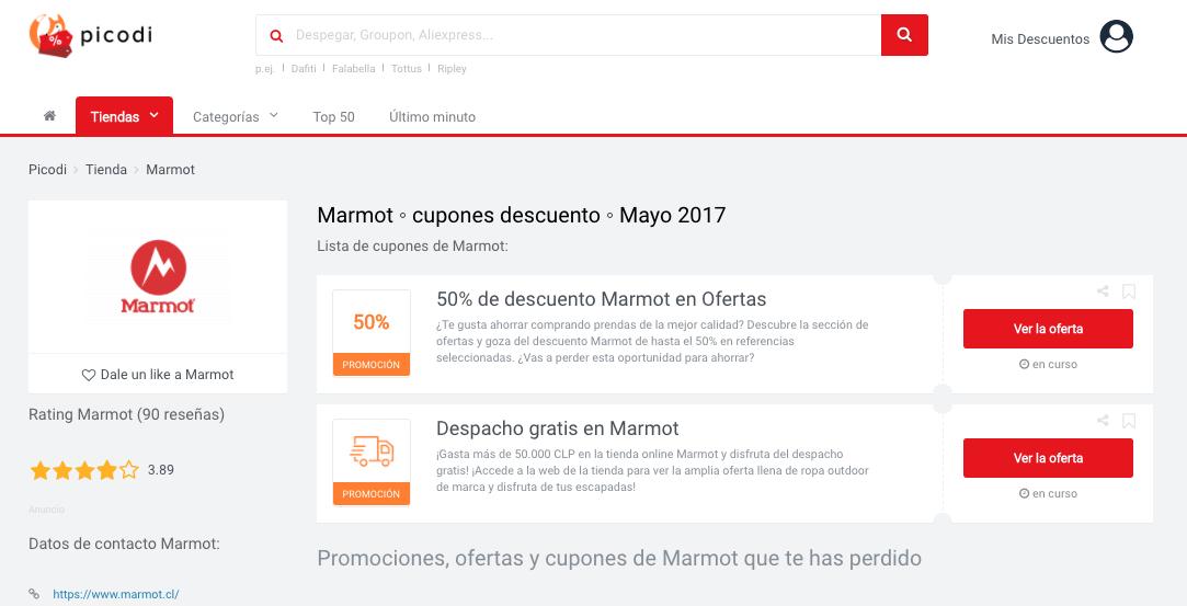 promociones marmot