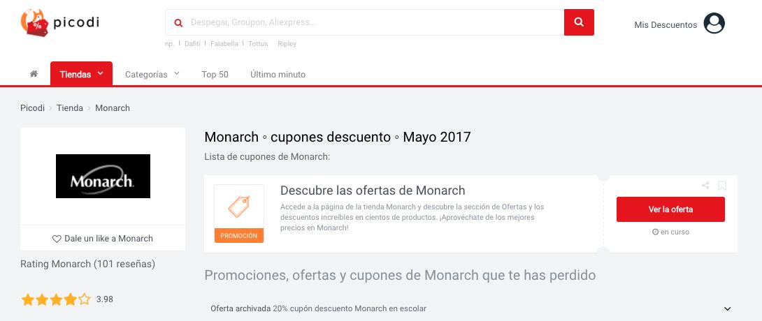 promociones Monarch Picodi