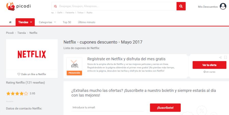 promociones netflix picodi