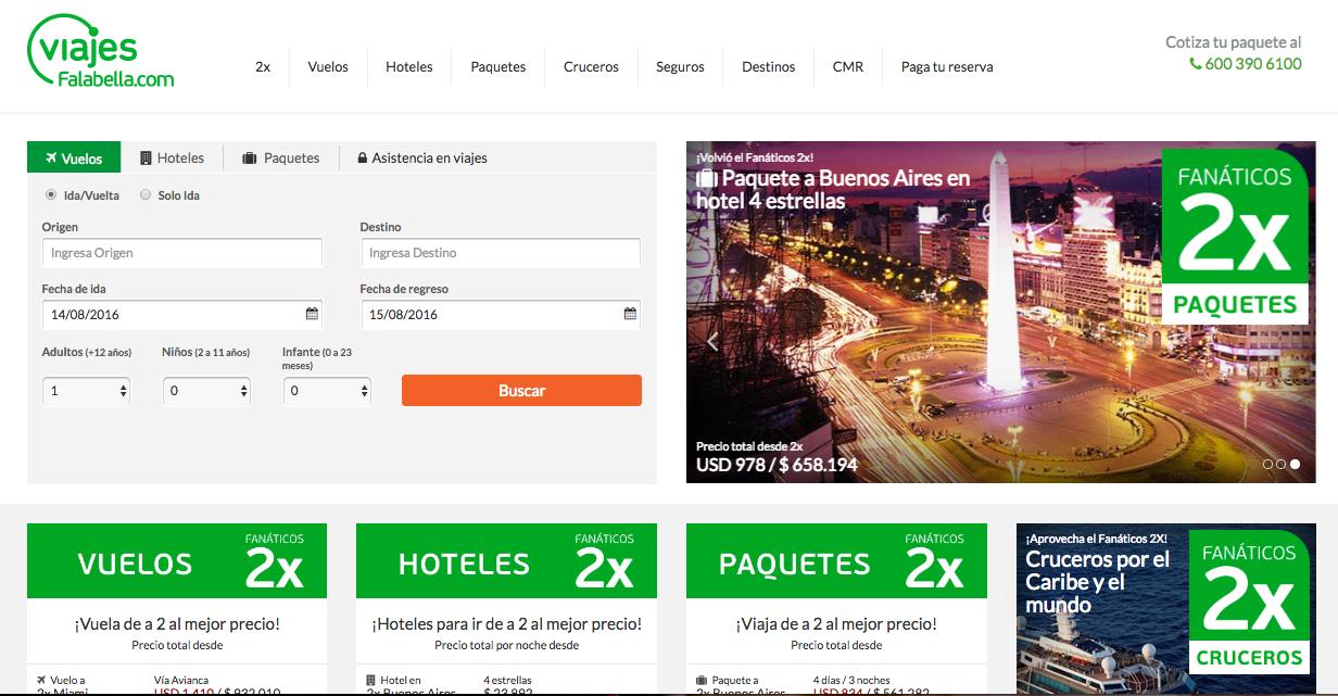 viajes falabella homepage