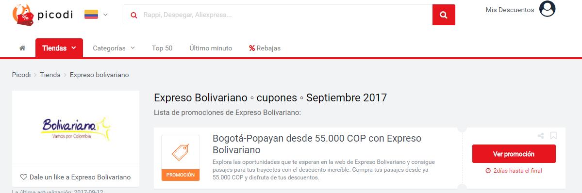 promociones Bolivariano