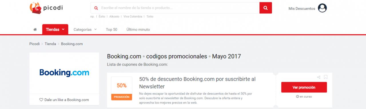descuentos de booking