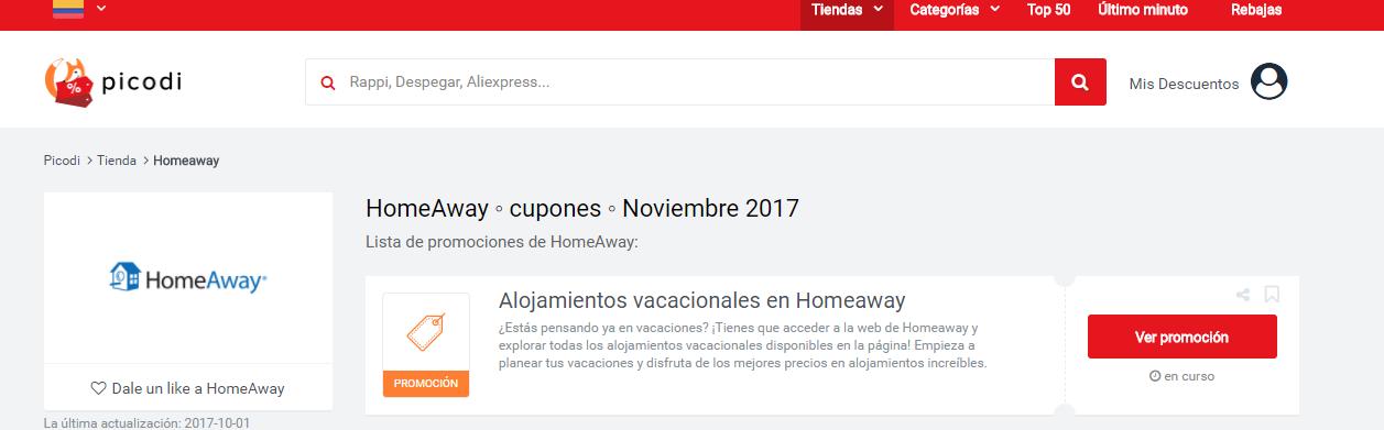 homeaway promociones
