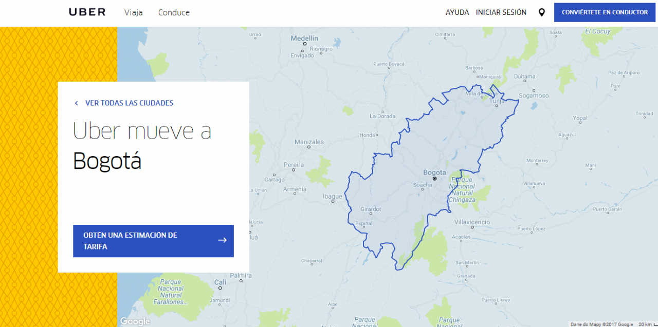 pagina de uber