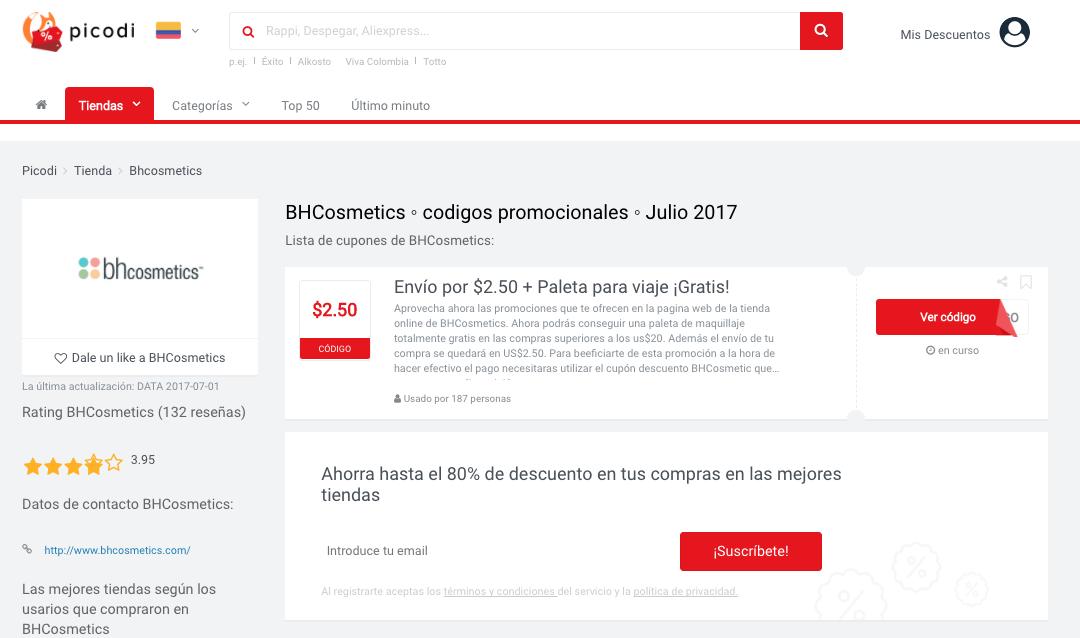 BHcosmetics en Picodi