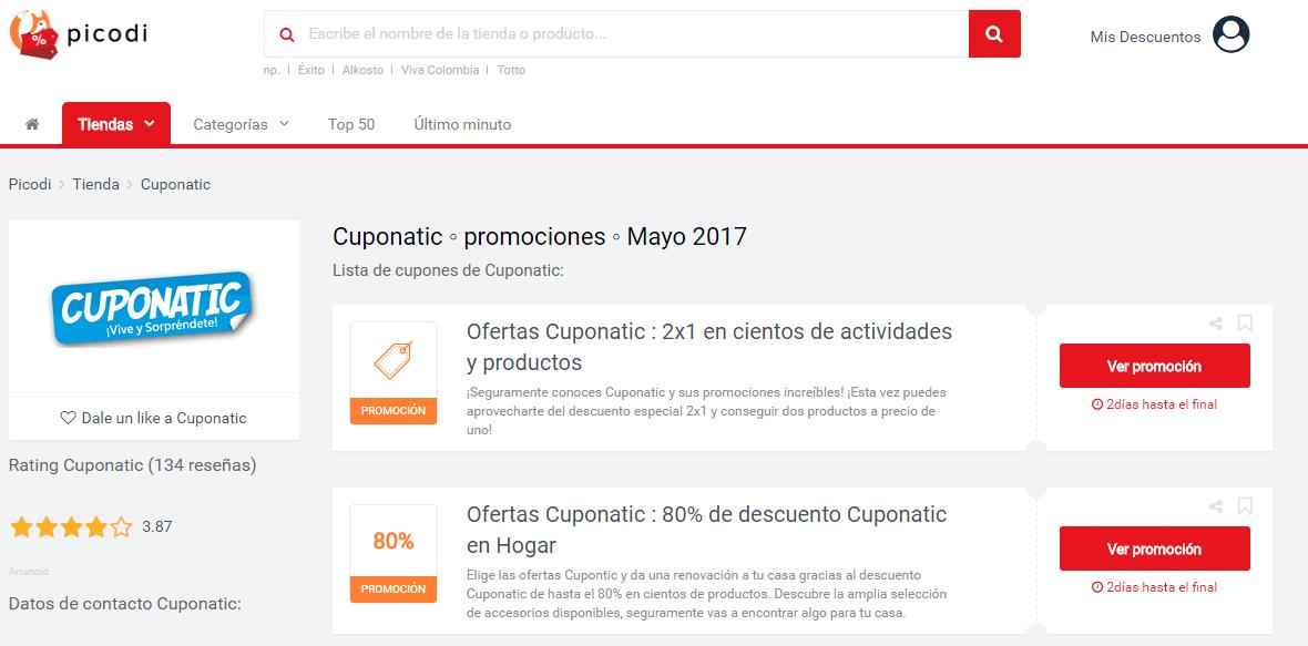 promociones cuponatic