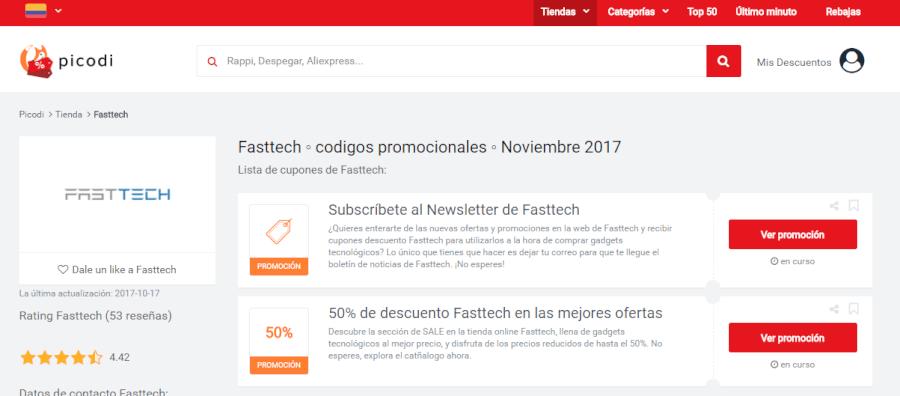 promociones de fasttech