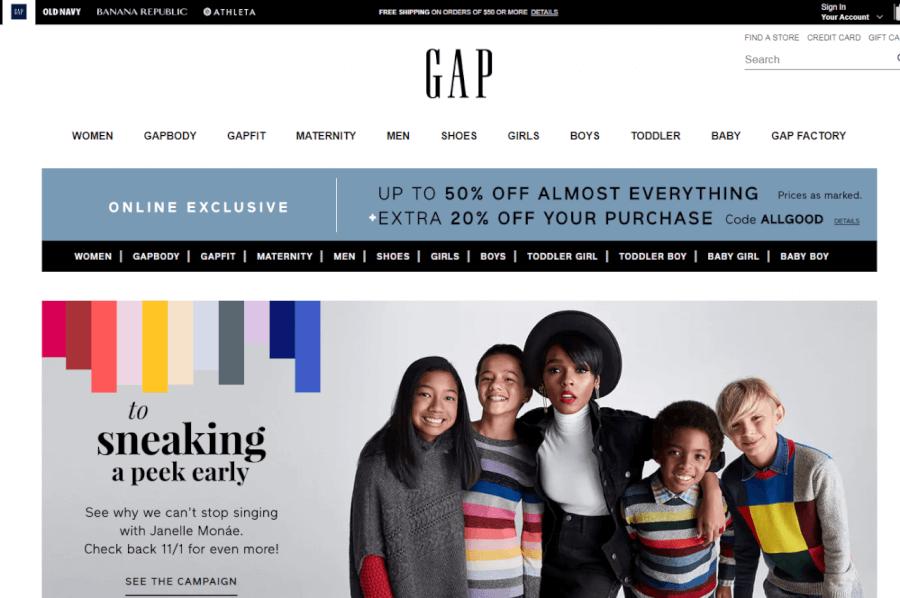 oferta de gap