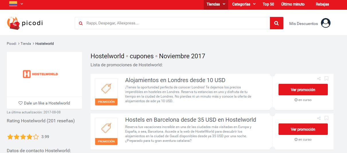 oferta de hostelworld