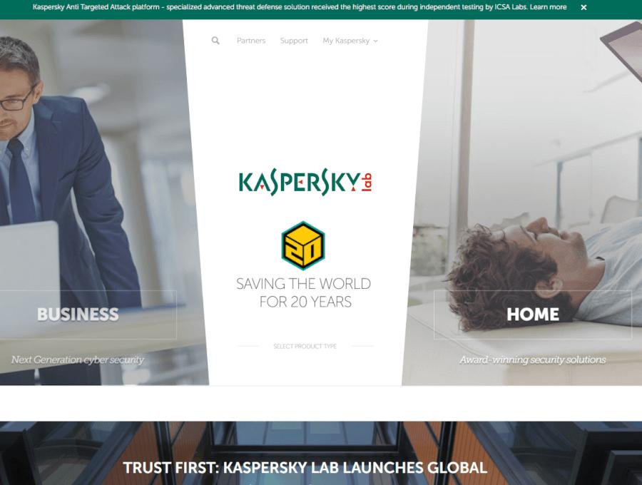 kaspersky pagina