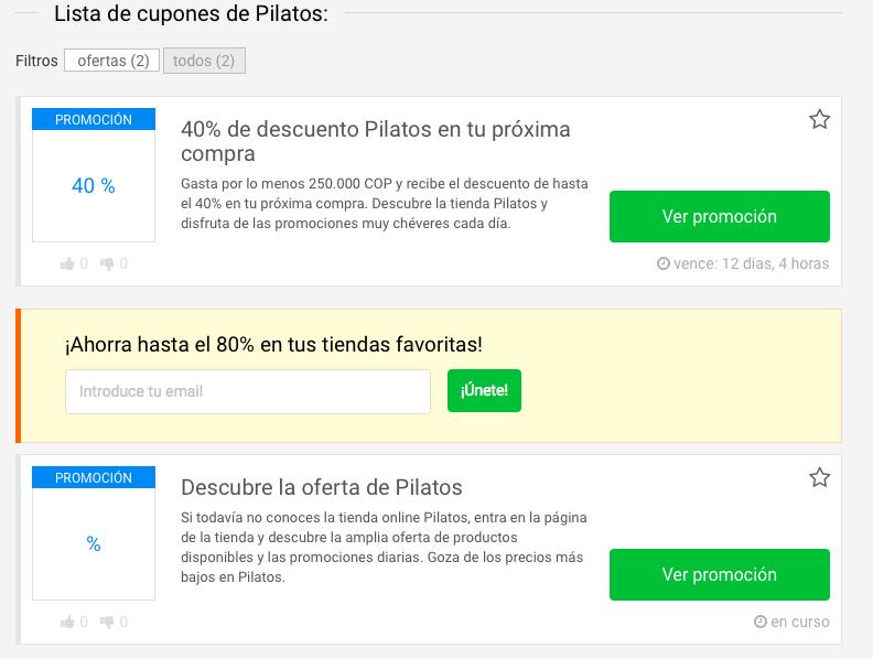 promociones Pilatos