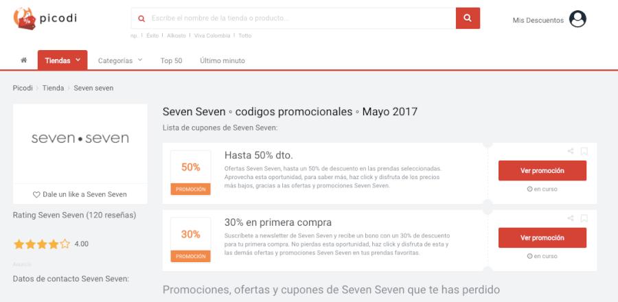 promociones de seven seven
