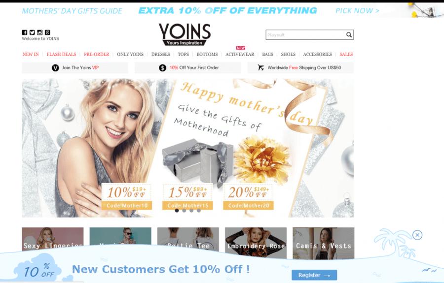 ofertas de yoins