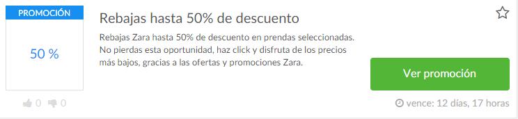 Promoción Zara