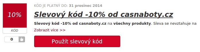 casnaboty.cz slevový kupón