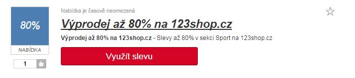 Slevy na 123shop.cz